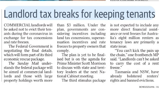 Landlord tax breaks rents